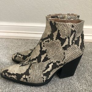 Snakeskin Booties - Soul by Naturalizer